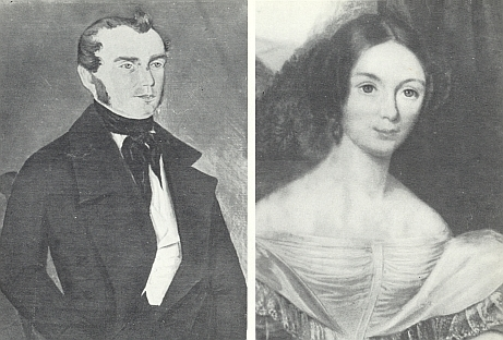 Raný potrét Georga Christopha Abele mladšího (1812-1878) a vedle jeho ženy Franzisky, jejíž otec byl pražským měšťanem a majitelem pivovaru