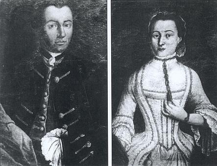 Blasius Drinssi, obchodník ve Strakonicích, a jeho žena, poprvé provd. Rosnerová, matka Kathariny Rosnerové, ženy Christiana Ferdinanda Abele