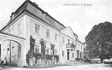 Zámeček v Ludwigsthalu, pohlednice