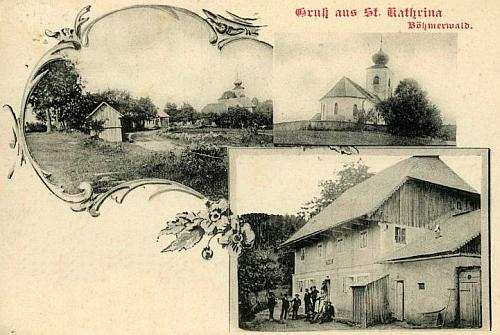 Stará pohlednice Svaté Kateřiny