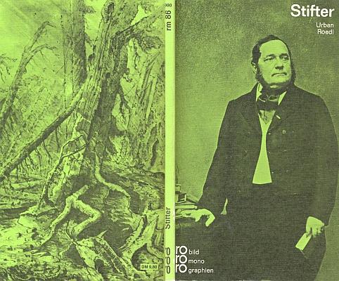 Obálka  jeho knihy o Stifterovi vydané v nakladatelství Rowohlt v Reinbeku (1965)