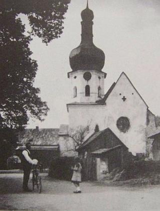 Klášterní kostel v Pivoni jak jej mohl vidět Anton Adler...