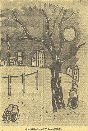 Jeho kresba, otištěná v květnu 1962 v Jihočeské pravdě