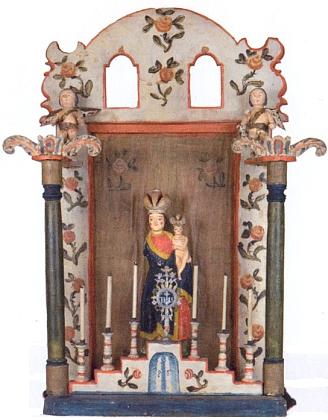 Domácí oltářík s Pannou Marií Svatohorskou je lidová práce z 19. století, pochází ze Zejbiše a je dnes uchovávána v kašperskohorském Muzeu Šumavy
