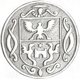 Královácká pečeť sklářského rodu Adlerů zroku 1782