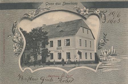Zejbišský hostinec U Pošty (poštovní úřad byl v Zejbiši zřízen v roce 1892)
