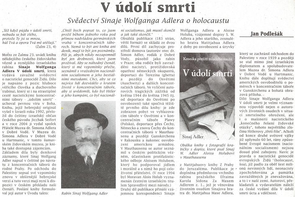 Recenze synovy knihy v českobudějovickém diecézním časopise Setkání