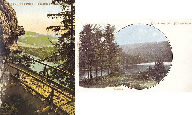 Čertovo jezero na starých pohlednicích