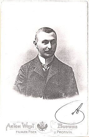 Pohlednice firmy A. Wildt s podpisem Almesbergerovým