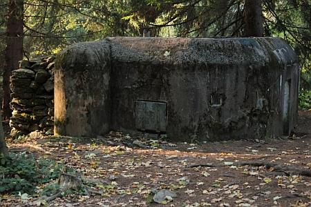 Bunkr, který byl součástí soustavy opevnění u Kubovy Huti