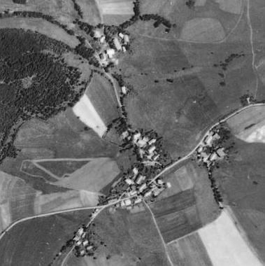 Svatá Kateřina na leteckých snímcích z let 1949 a 2008
