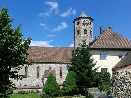 Kostel sv. Maximiliana a fara v Haidmühle