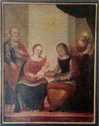 Oltářní obraz Svaté rodiny z Libínského Sedla