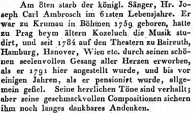 Zpráva o jeho úmrtí v německém hudebním periodiku stojí možná na počátku dále přejímaného chybného roku narození