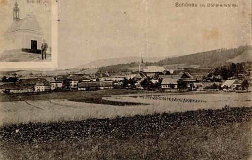 Někdejší Šenava na pohlednici Josefa Seidela