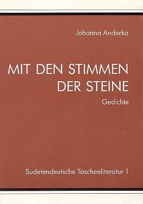 """Obálka prvého svazku """"paperbackové"""" edice Sudetoněmeckého krajanského sdružení (1992), kterým sestala její sbírka básní Shlasy kamenů"""