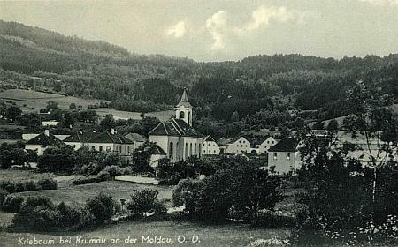 Zaniklé Vitěšovice na pohlednici z let druhé světové války (viz i Anton Neubauer)