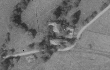 Tahedlův mlýn na leteckých snímcích z let 1952 a 2011