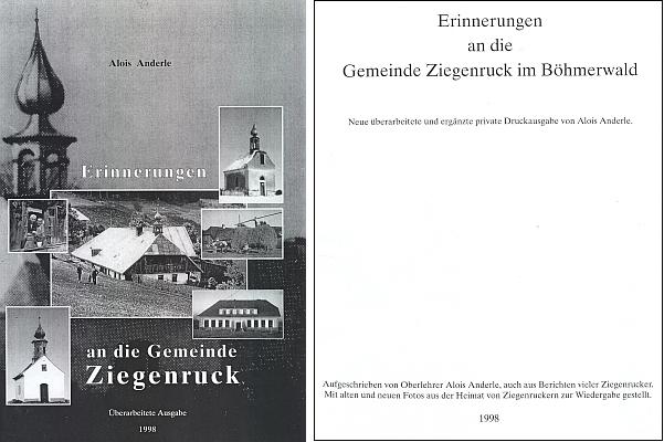 Černobílá reprodukce obálky a titulního listu nového doplněného vydání jeho knihy, vyšlé nejprve jako soukromý tisk autorův