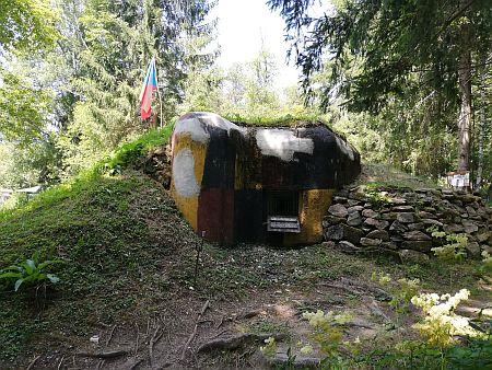 Jeden z bunkrů československého opevnění u Soumarského mostu