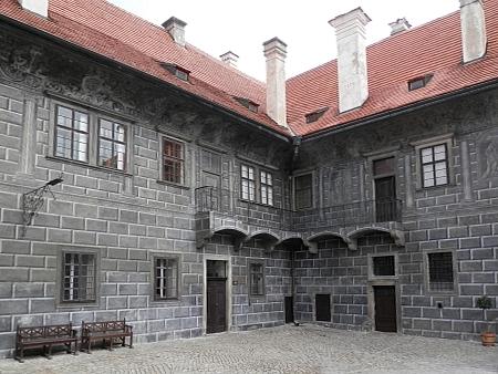 V této budově na českokrumlovském zámku sídlil schwarzenberský archiv