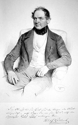 Adolf Bäuerle na litografii Josepha Kriehubera zroku 1846