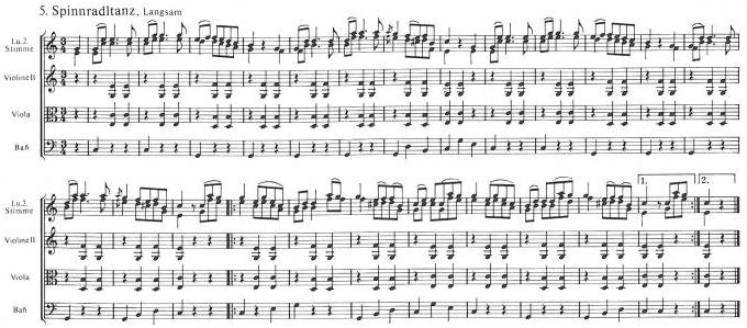 Notový záznam hudebního doprovodu