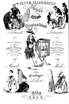 Titulní strana jednoho z pozdějších ročníků (1843) proslulého Bäuerleho periodika