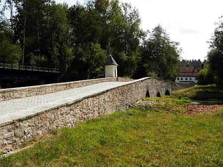 Starý soumarský most v Röhrnbachu