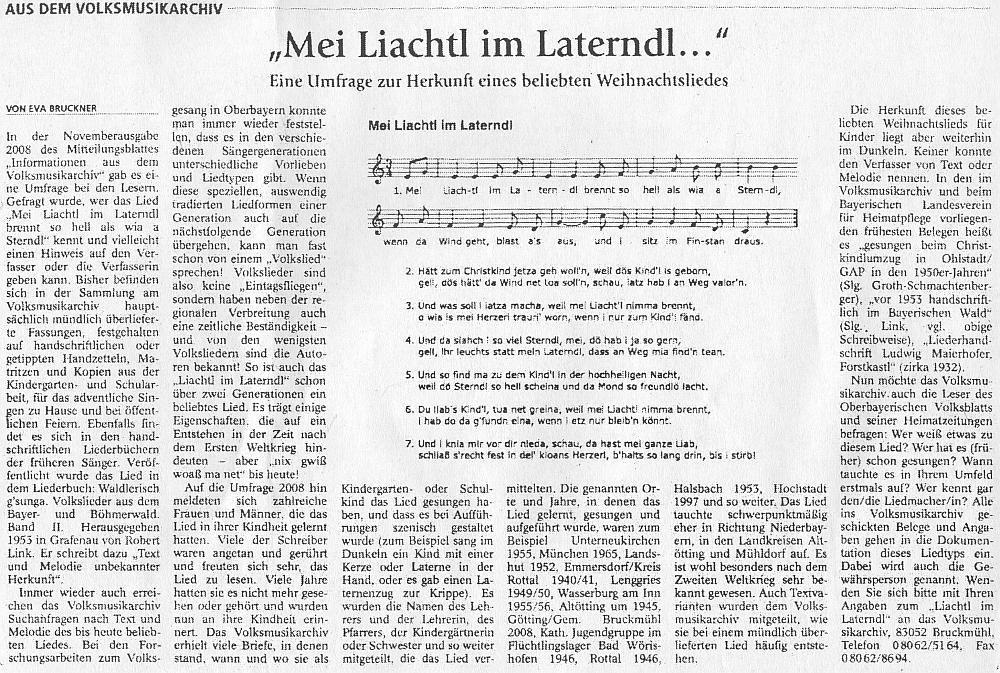 Text Evy Brucknerové o této vánoční písni