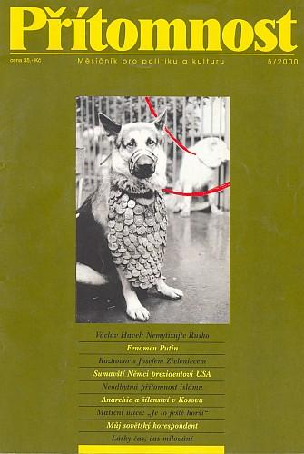 Obálka časopisu Přítomnost (5/2000), kde vyšel jeho překlad
