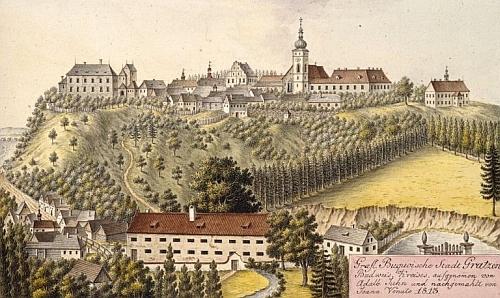 Nové Hrady na vyobrazení Johanna Venuta z roku 1813