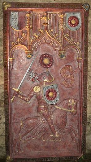 Rožmberský náhrobek v cisterciáckém klášteře veVyšším Brodě