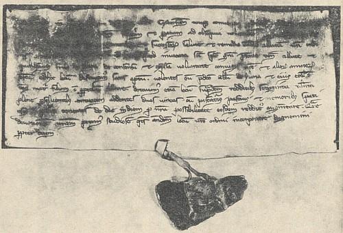Listina Voka z Rožmberka, kterou roku 1258 zpravuje generální kapitulu cisterciáckého řádu o svém záměru založit klášter ve Vyšším Brodě