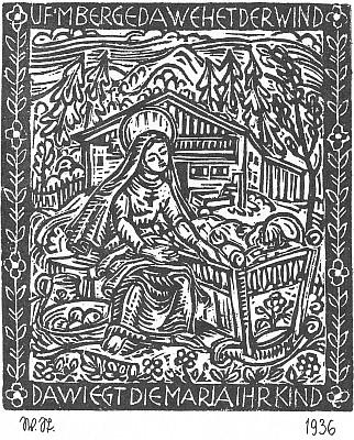 Walther Sturm, grafika k anonymní písni z Bláta (viz i Anton Sika)