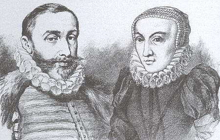 Petr Vok z Rožmberka a jeho manželka Kateřina z Ludanic