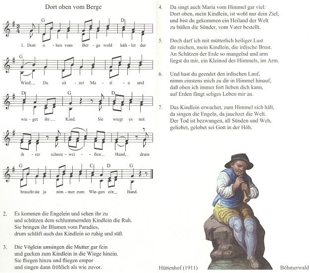 Úplnější verzi písně zapsal v Huťském Dvoře u Zvonkové Adalbert Jungbauer a z jeho knihy Das Weihnachtspiel des Böhmerwaldes (1911) byla v roce 2011 pojata do sborníku vánočních, novoročních a tříkrálových písní bavorsko-českého příhraničí, vydaného v Řezně (Regensburg)