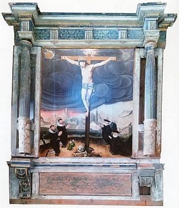Fotomontáž obou částí anwaterovského (anbanterovského) epitafu