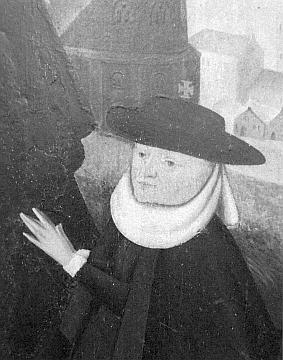 ... a Matějova manželka na detailu z epitafu