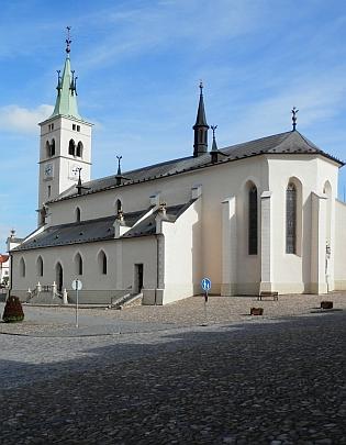 Kostel sv. Markéty na kašperskohorském náměstí