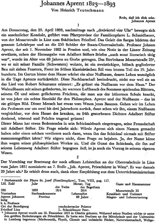 Úvodní strana jeho životopisu s prosincovým datem narození