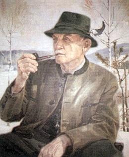Na malbě Lothara Sperla, zjevně vytvořené podle předchozí fotografie