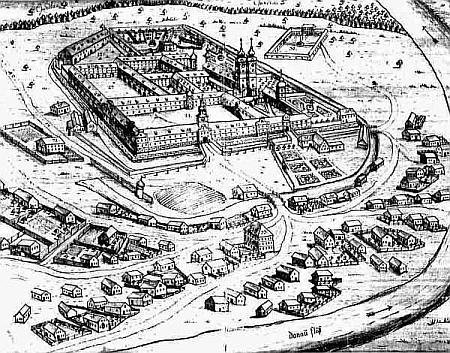 Klášter Niederaltaich na starém vyobrazení