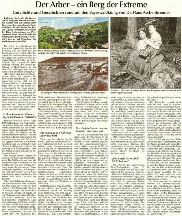 Z historie nejvyššího šumavského vrcholu čerpá jeho text, doprovázený i snímkem první turistické chaty na hoře Javor, otevřené roku 1885