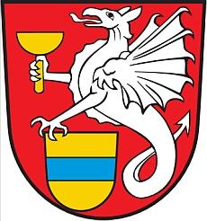 Znak jeho rodné obce Blaibach