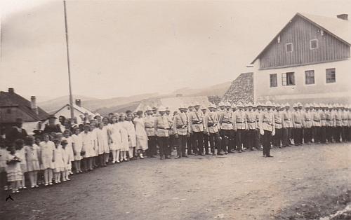 Slavnost založení hasičského sboru v Kundraticích roku 1932