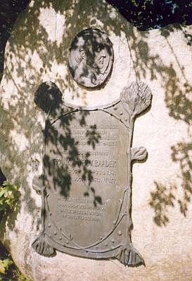 Pamětní kámen v Lambachu s jeho verši
