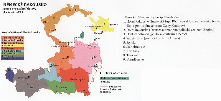 Německé Rakousko podle své prozatímní ústavy z 22. listopadu 1918