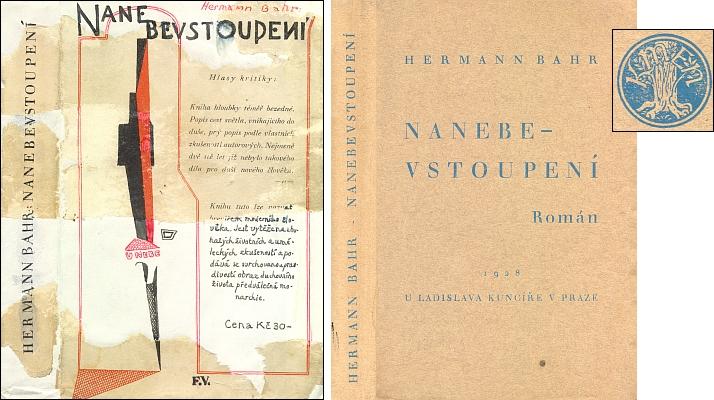 Obálka a brožovaná vazba (1928) českého překladu jeho románu - podle signatury F.V. víme, že autorem obálky byl František Igor Vik (1895-1957), výtvarník, který byl jinak i ruským legionářem a důstojníkem československé armády