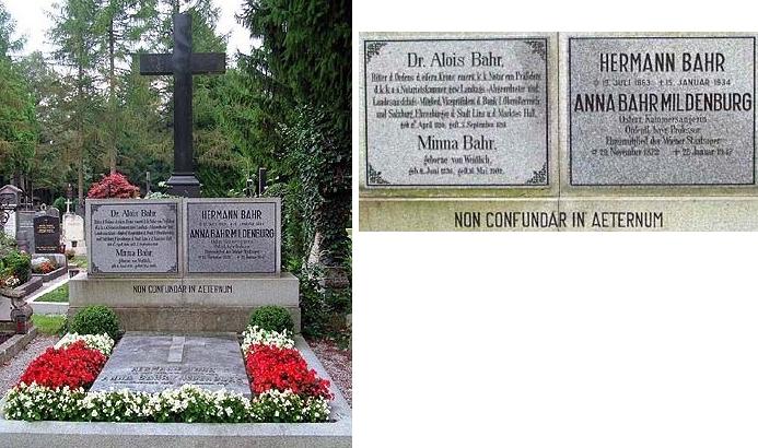 Jeho čestný hrob na komunálním hřbitově v Salzburgu